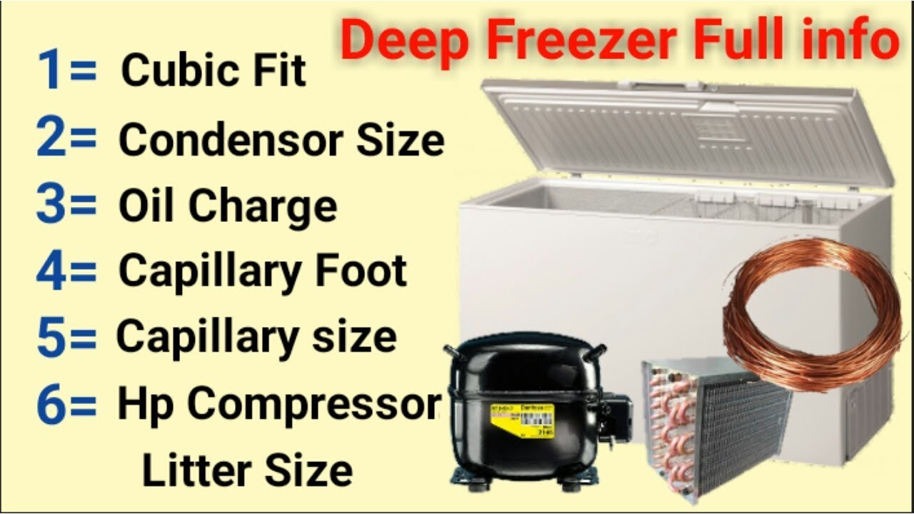 Deep freezer all attachment compressor,capillary tube,and more material  information in Urdu/Hindi
