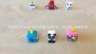 Cube-amals, Cube Animals, Handmade, Crafty Kid, New Toy Ideas, Toy Surprise, Crafty Kid Sid