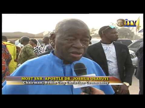 Benin Christain Community Rounds Off New year Universal Prayer Week Of Prayer At Oba Palace