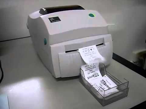 Impressora Zebra Tlp 2844 Com Guilhotina Youtube