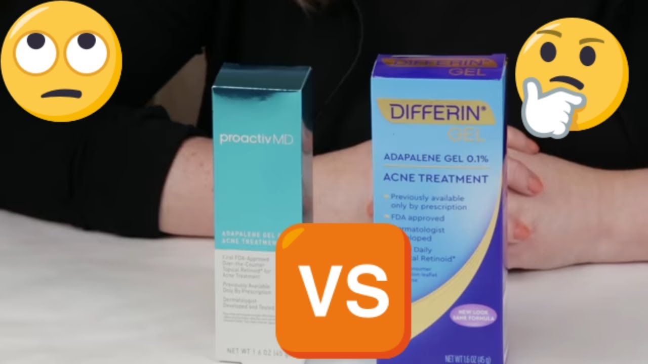 Differin Vs Proactiv Md Adapalene Acne Treatment Gel Review Youtube