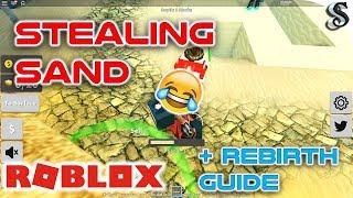 ROBLOX - TREASURE HUNT - STEALING SAND 🕵- FASTEST WAY TO REBIRTH