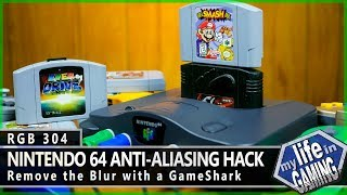 RGB304 :: Nintendo 64 Anti-Aliasing Hack - Remove the Blur with a GameShark / MY LIFE IN GAMING