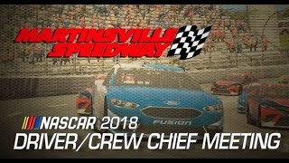 Drivers Meeting Video: Martinsville
