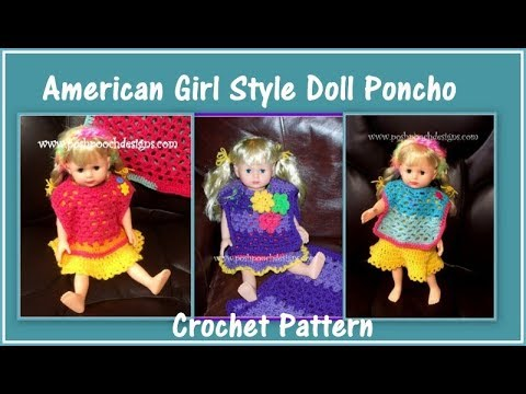 Doll Poncho Pattern. Knitting, Fits American Girl and 18 inch Doll ...   360x480