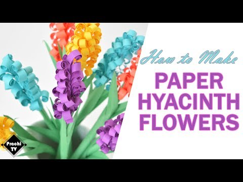 Hyacinth Flowers Paper Craft Step by Step Instructions