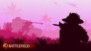 Tutorial vector silhouette landscape war scene with adobe illustrator