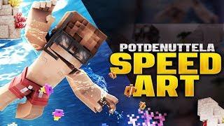 PotdeNutella - Minecraft Banner Speedart [#169] | ft. SkulledG
