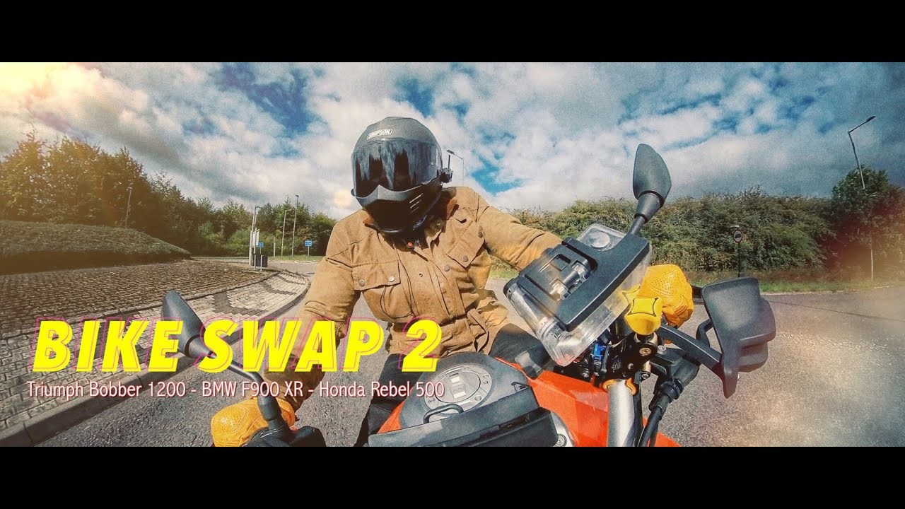 Bike Swap 2 -  Onboard the BMX F900 XR and Honda Rebel 500