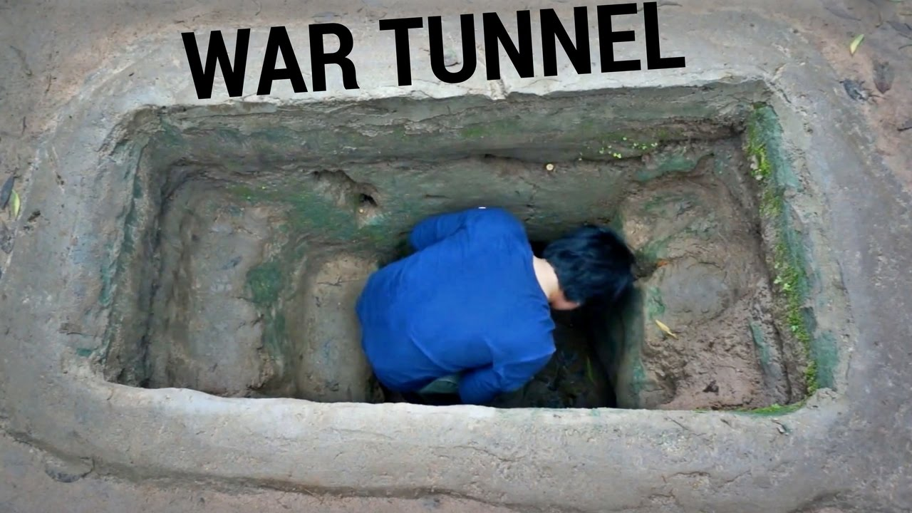 Exploring a WAR TUNNEL // Củ Chi Vietnam