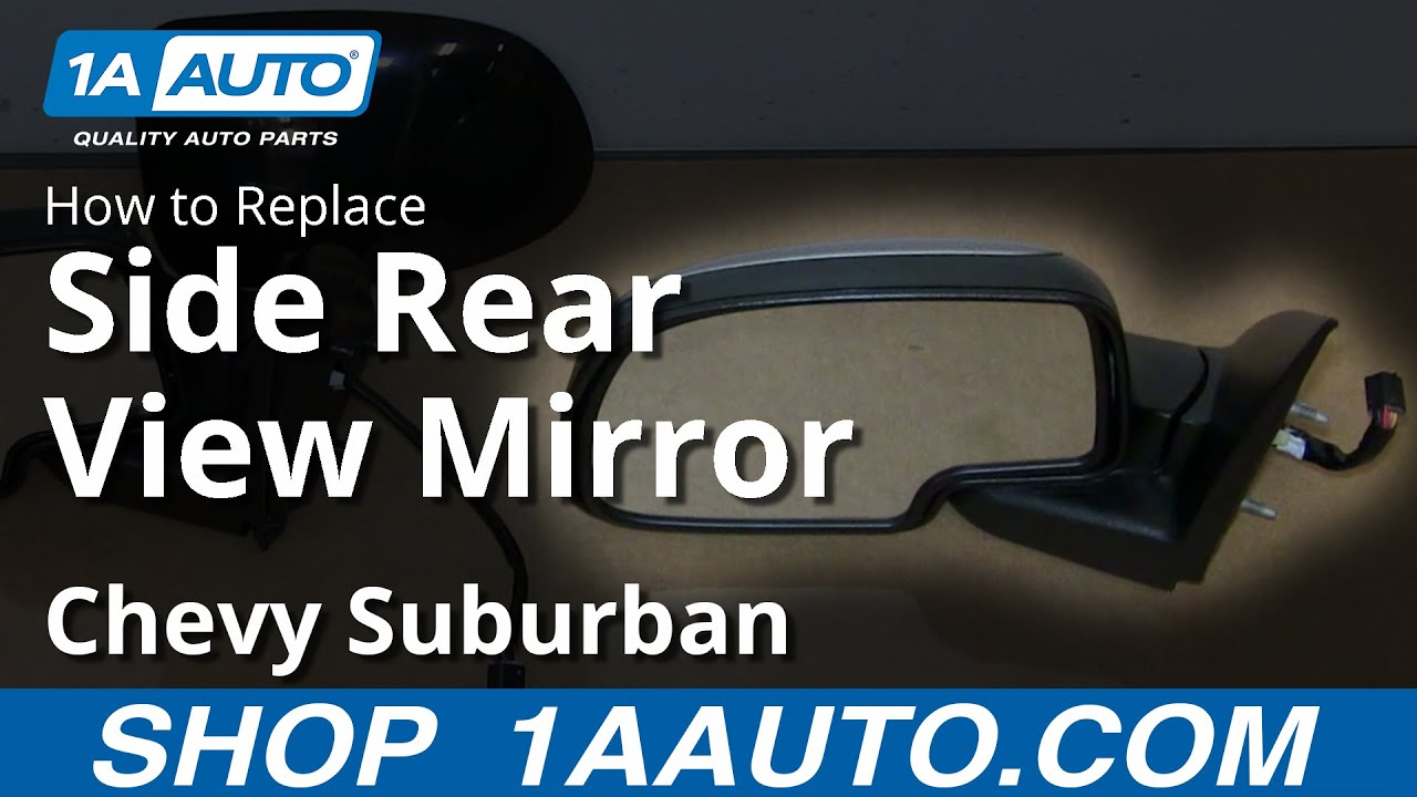 How To Install Replace Rear Side View Mirror 2000 06 Chevy Suburban 04 Express Van Wiring Diagram Youtube