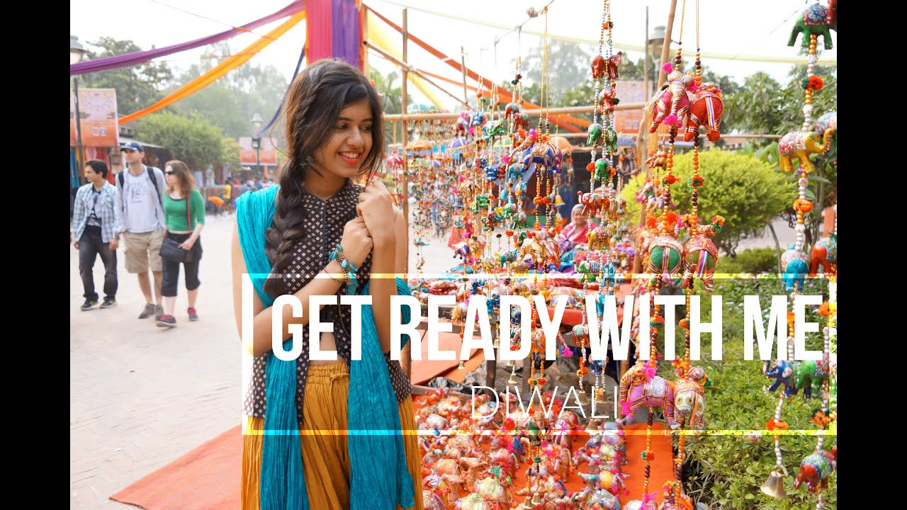 8ef6ec5712a61 Get Ready with Me for Diwali! Hair+Makeup+Outfit! - YouTube