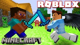Roblox | PLAYING MINECRAFT IN ROBLOX: BEING BOARD | Mineblox Minigame | KiA Pham