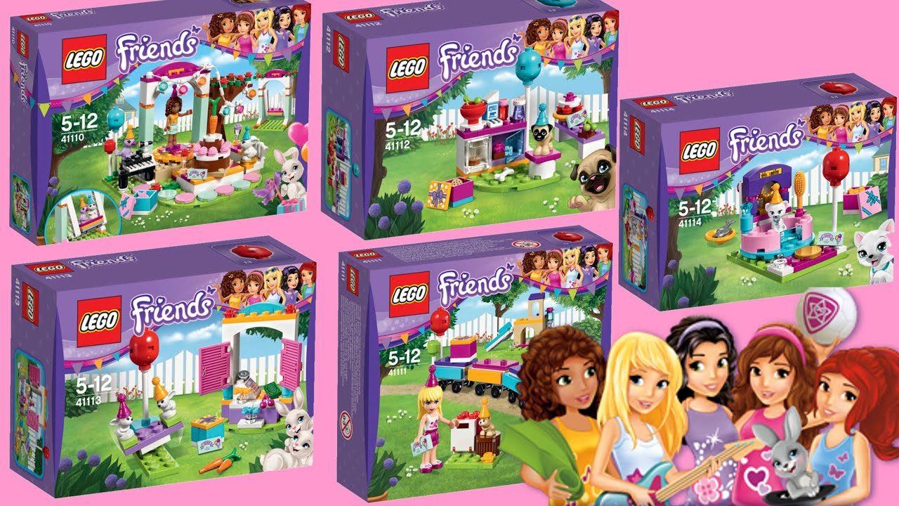 Lego Friends Birthday Party Cake