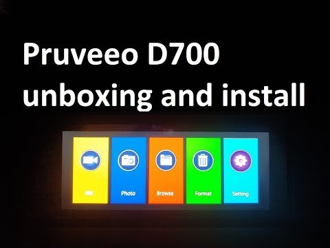 Pruveeo D700 Dash Cam Unboxing And Hardwired Install
