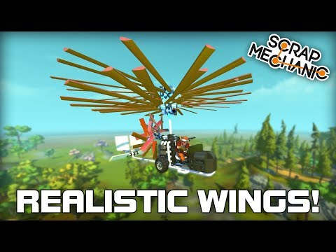 Realistic Wing Mod and Working Gyro-Copter! (Scrap Mechanic #282)