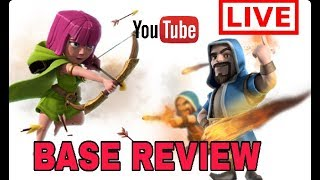 LIVE BASE REVIEW AND LIVE ATTACK LOOT TOWN HALL 11