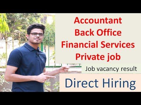 Back Office Accountant Job| Job Vacancies |