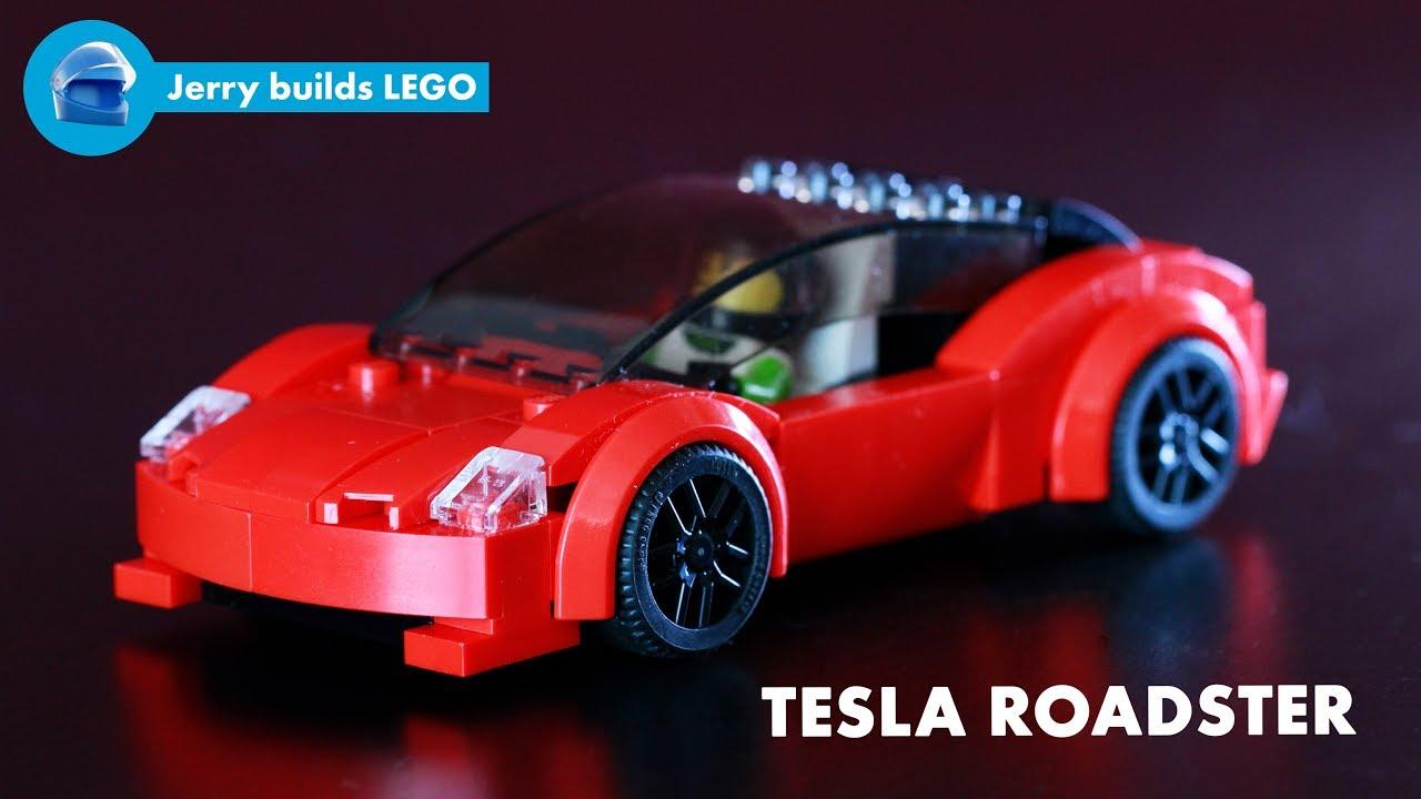 New Tesla Roadster >> LEGO Tesla Roadster instructions (MOC #23) - YouTube