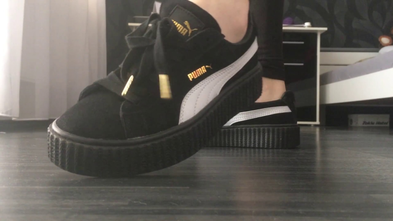 "Rihanna Toes: Rihanna For Puma ""The Creepers"" Black"