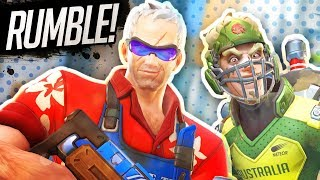 RUMBLE!?  New Free For All & TDM Modes | Overwatch w/ Mr Fruit & The Dream Team