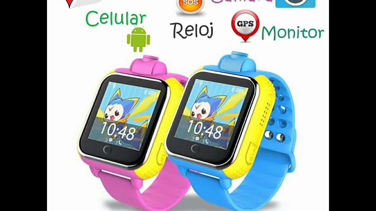 Un vistazo al reloj celular android con gps y cámara para niños ... 084a261c7e14
