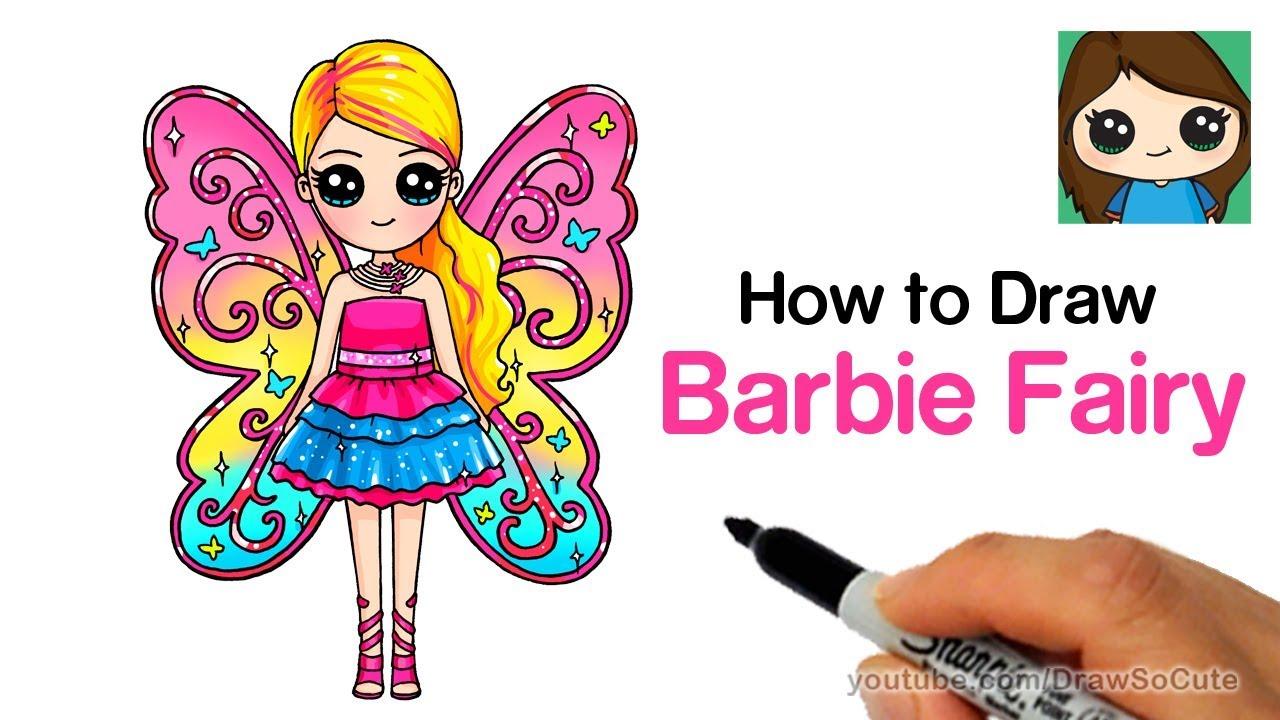 How To Draw Barbie Fairy Youtube