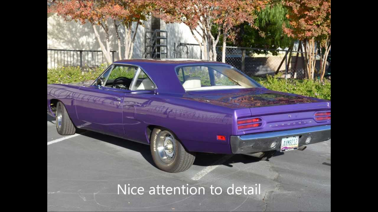 1970 Plymouth Road Runner 440 6 Pack CrazyPurpleTest Drive