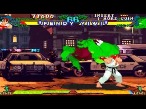 Download marvel super heroes vs street fighter spiderman ryu versus zangief hulk