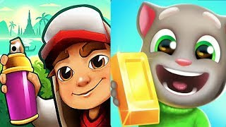 Subway Surfers Bangkok HD Vs Talking Tom Gold Run Fullscreen*Gameplay For Kid #12