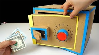 How to make a Safe with Combination Number Lock from cardboard -  2 level locker
