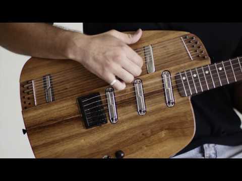 Electric Guitar with on-board resonant harp strings | Reso Harp by New Complexity