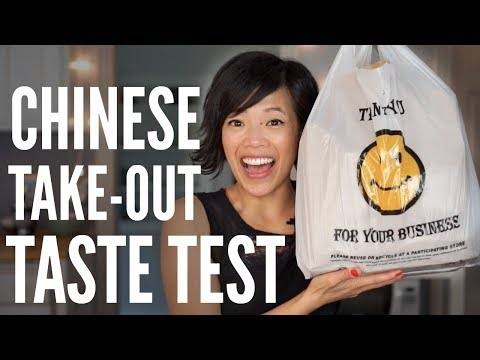 Chinese Take-Out TASTE TEST | my first time ordering Chinese-American food