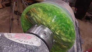 Green Resin and KOA   FLOWER POT
