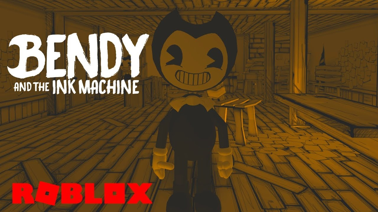 Bendy Fan Game Roblox Bendy And The Ink Machine In Roblox Roblox The Inky Cartoon Workshop Roleplay Youtube