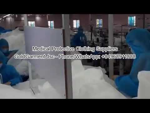 Medical Protective Clothing Suppliers Disposable Protective Suit Waterproof Coveralls Safety Suit