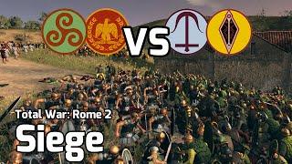 Total War: Rome 2 Online Battle #19 (2v2 Siege) - Clash of Steel!