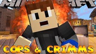 Minecraft GAMES - THE COPS BEAT THE CRIMINALS!!