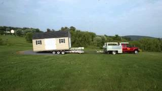 Prefabricated Vinyl Dutch Barn Delivery With Truck And Trailer Delivered In Maryland