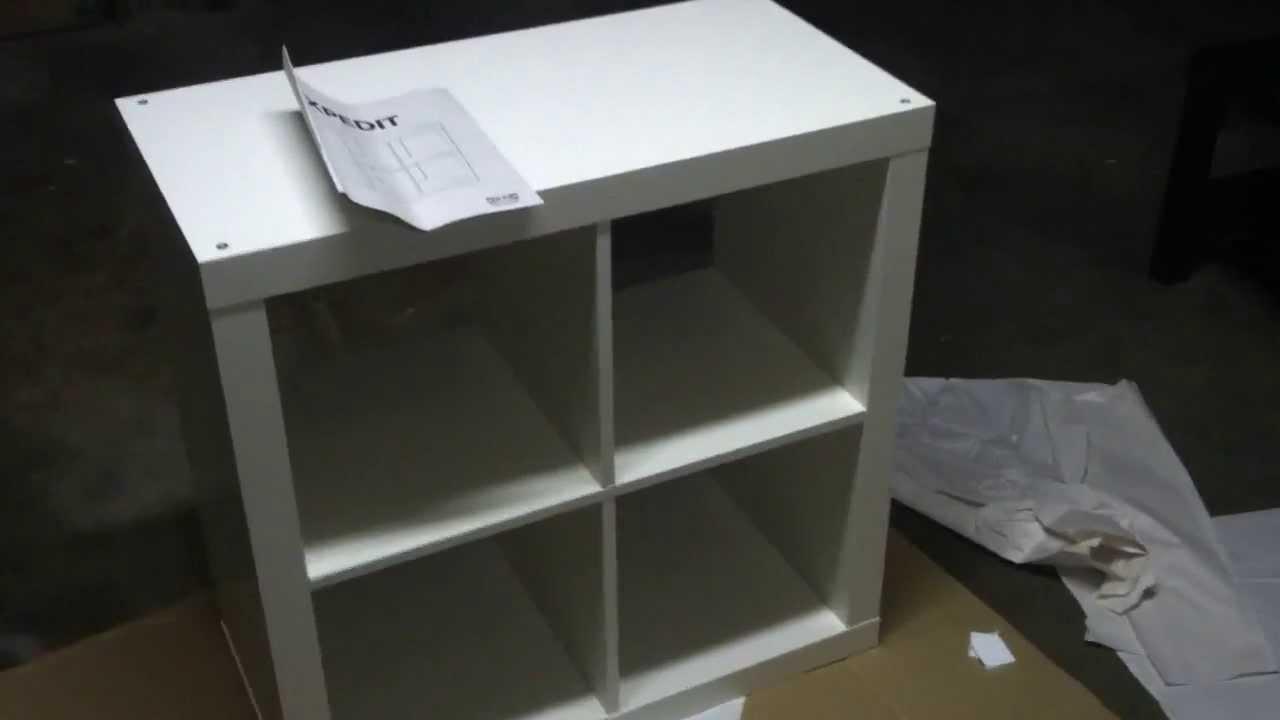 Ikea EXPEDIT small cube storage unit build tutorial & Ikea EXPEDIT small cube storage unit build tutorial - YouTube
