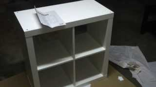 Ikea EXPEDIT small cube storage unit build tutorial