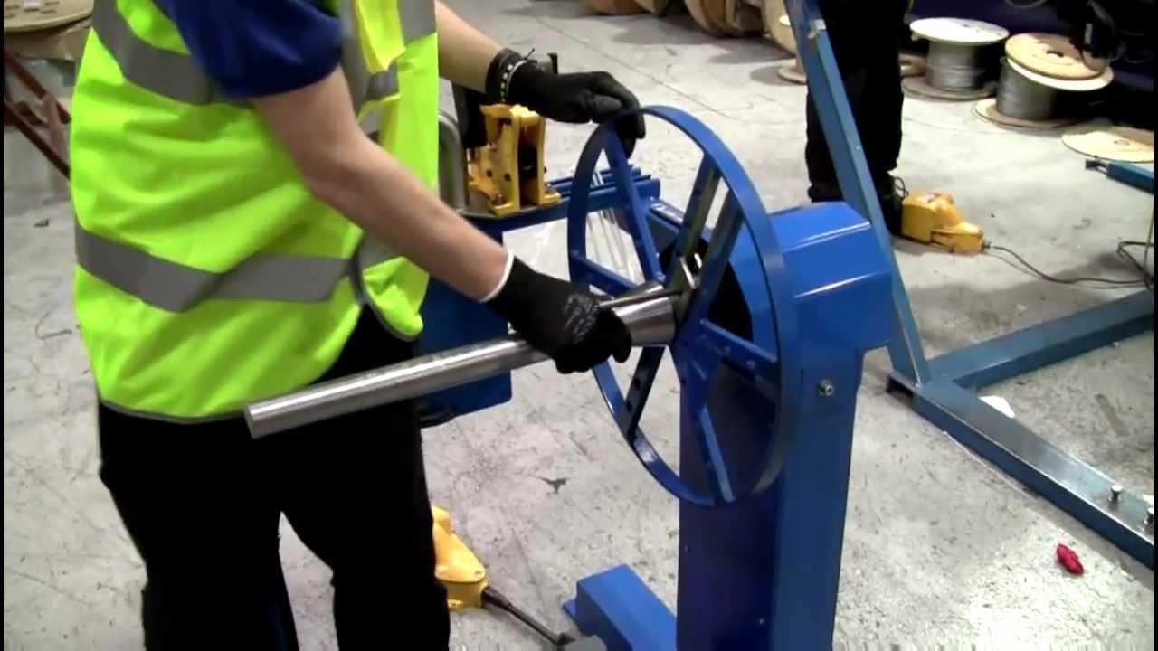 wire rope reeling machine