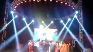 Dj Raja Jagraon Round trust setup with sharpy lights and led wall by