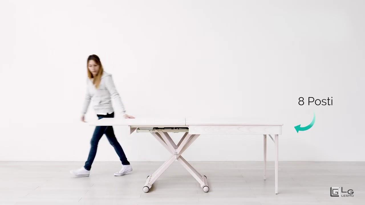 Tavolo Allungabile Lg Lesmo.Tavolo Magico Allungabile Frassino Decapato Bianco 8 Posti Lg