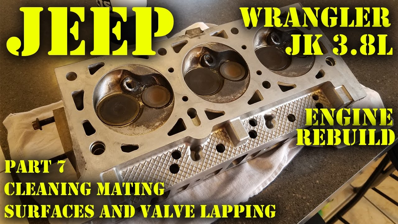 Jeep Wrangler JK 3.8L Engine Rebuild Part 7 - Cleaning Surfaces and