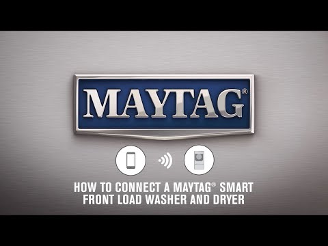 How To Connect A Maytag® Smart Front Load Washer And Dryer