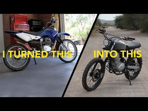 Dirt Bike to Vintage Style Tracker Conversion