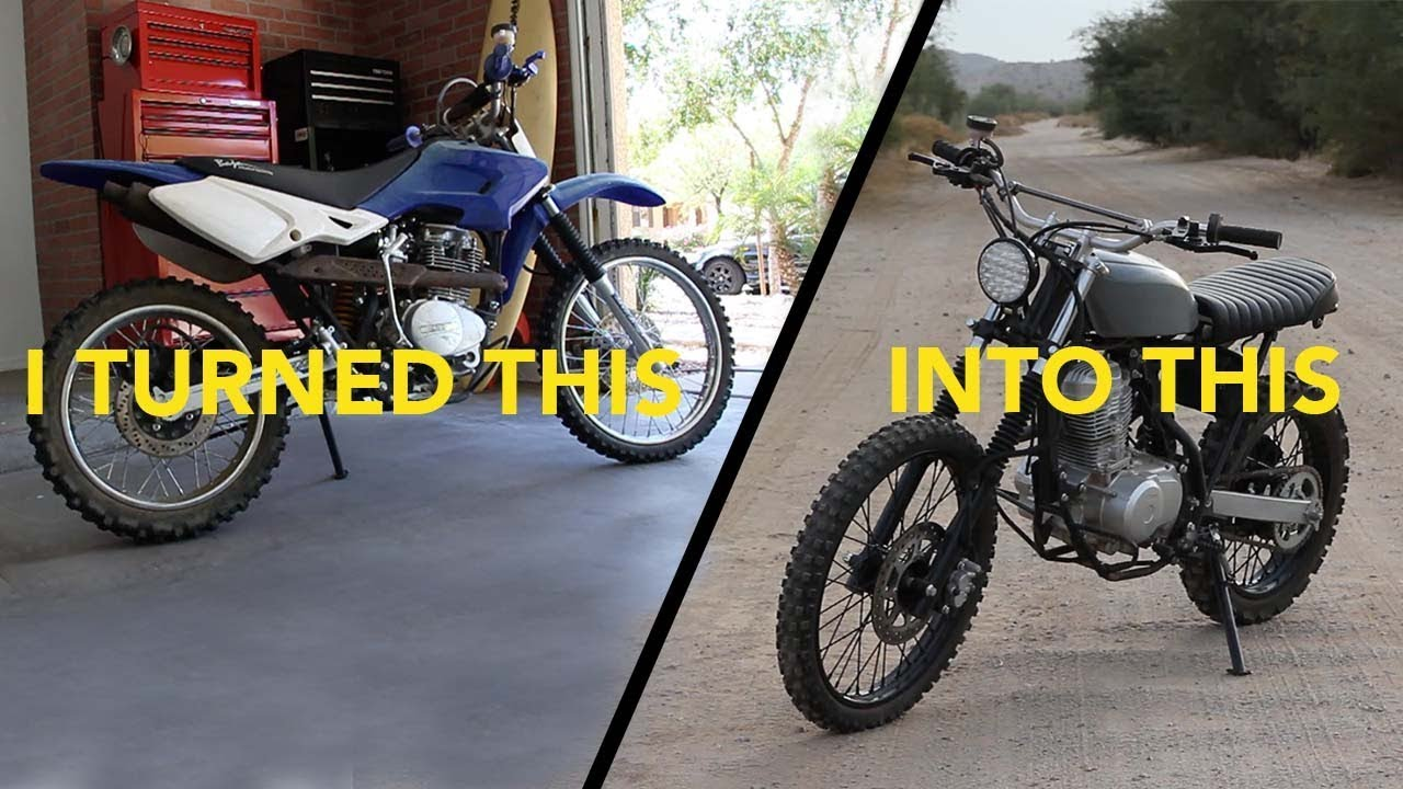 dirt bike to vintage style tracker conversion youtube