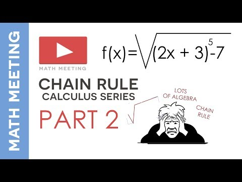 Chain rule - harder derivatives example