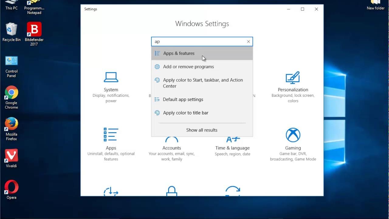 Uninstall Programmer's Notepad 2 on Windows 10 Creators Update